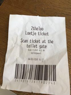 アムステルダムで絶対行きたいおすすめカフェ・レストラン9選!ルーチェ・セントラル トイレチケット