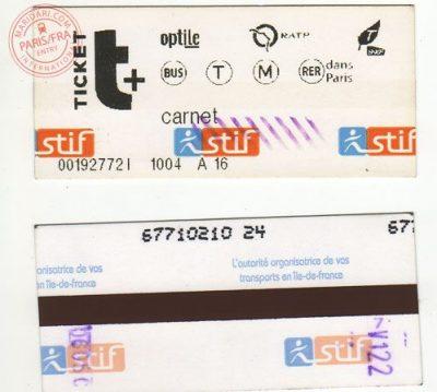 パリ観光する時のおすすめ移動手段!旅行前に知るべき7つの事!Ticket T+
