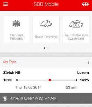 スイス、チューリッヒ観光おすすめ移動手段!旅行前に知るべき7つの事!スイス国鉄SBBアプリ