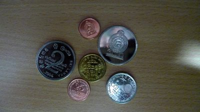 スリランカの通貨や両替事情を徹底調査!旅行前に知りたい6つのポイント!硬貨